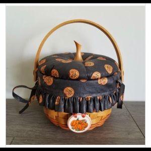 Longaberger 1997 Little Pumpkin Basket w/ Lid
